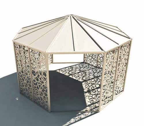 bysteel gazebo domitto 2 White Patio Gazebo by Bysteel – Domitto