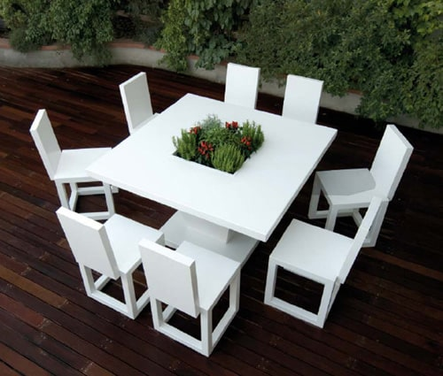 White Outdoor Furniture By Bysteel