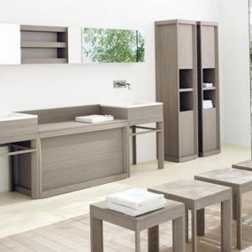 Solid Ash Wood Bathroom Furniture from CA d'Oro – Fontane collection is strong but refined