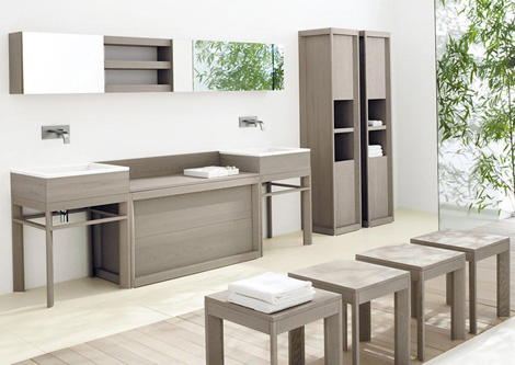 cadoro bathroom fontane 1 Solid Ash Wood Bathroom Furniture from CA dOro   Fontane collection is strong but refined