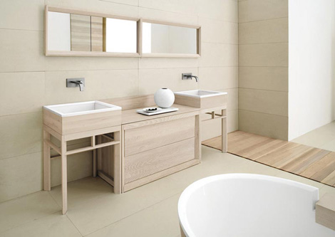 cadoro bathroom fontane 3 Solid Ash Wood Bathroom Furniture from CA dOro   Fontane collection is strong but refined