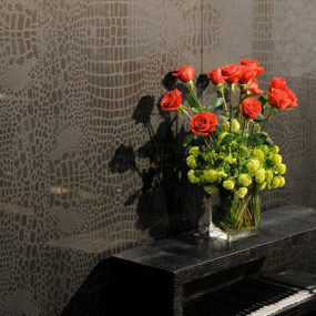 Quartz Surfaces – textured quartz wall panels Motivo by Caesarstone