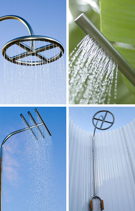 calazzo outdoor wall mount showers Outdoor wall mount showers from Calazzo