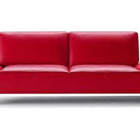 Modern Italian sofa Cal 120 from Calia Italia – lipstick red color sofas