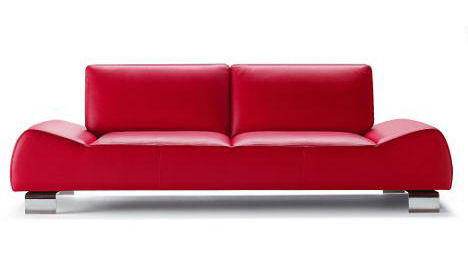 Modern Italian sofa Cal 120 from Calia Italia - lipstick red color sofas