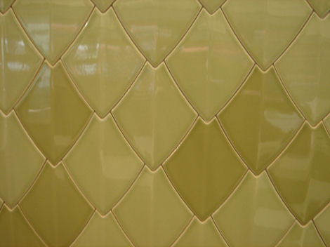 canakkale seramik reptile snake yellow Reptile Tile from Canakkale Seramik   the new Decorative Ceramic Tile