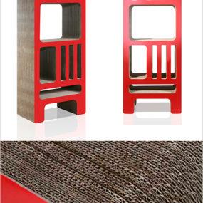 Cardboard Bookshelf by Reinhard Deines