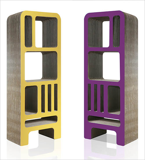 cardboard bookshelf reinhard deines 2 Cardboard Bookshelf by Reinhard Deines