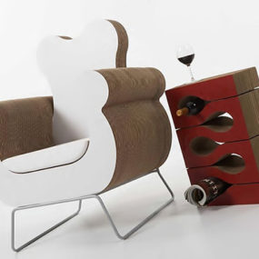 Cardboard Furniture by Kube