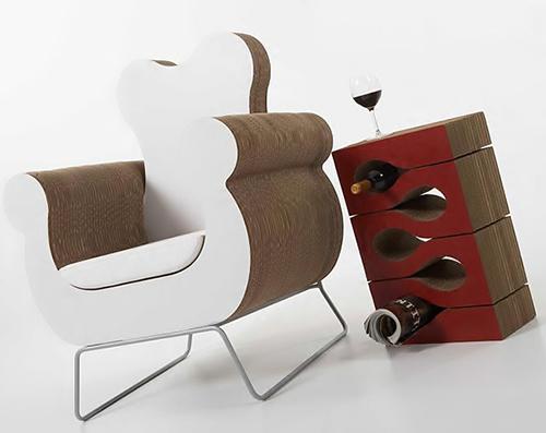 cardboard furniture kube 1 Cardboard Furniture by Kube