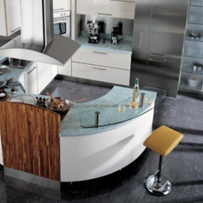 Circular Kitchen from Carma Cucine – new Milea ergonomically shaped kitchen