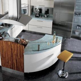 Circular Kitchen from Carma Cucine – new Milea ergonomically shaped kitchen