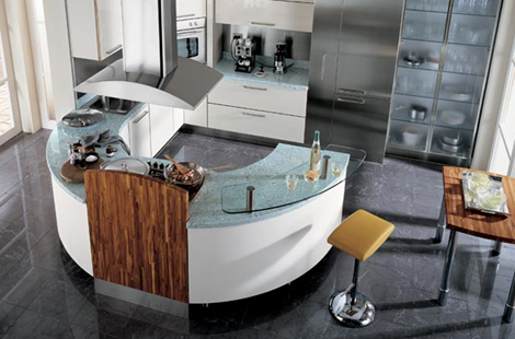 carma kitchen milea 1 Circular Kitchen from Carma Cucine   new Milea ergonomically shaped kitchen