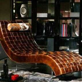 Contemporary Chaise Lounge furniture from Casa Nova – Amaka leather chaise lounge