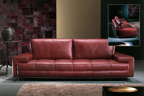 Contemporary sofa from casa nova the leather sofa carmel - Sofa azul turquesa ...