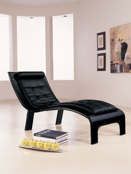 casa novalia chaise tango black Leather Lounge Chaise Tango from Casa Novalia   beautifully contemporary Italian chaise design