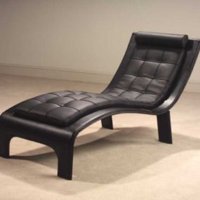 Leather Lounge Chaise 'Tango' from Casa Novalia – beautifully contemporary Italian chaise design