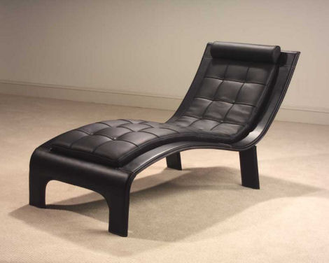 casa novalia italian leather chaise tango Leather Lounge Chaise Tango from Casa Novalia   beautifully contemporary Italian chaise design