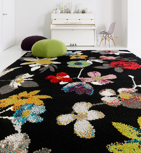 casalis beiras carpet Flower Pattern Carpets by Casalis Belguim