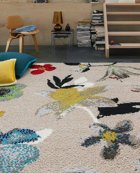 casalis beiras carpets Flower Pattern Carpets by Casalis Belguim