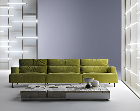 Cassina Aire Sofa Light Green Sofa Aire By Cassina Disassemblable And  Recyclable
