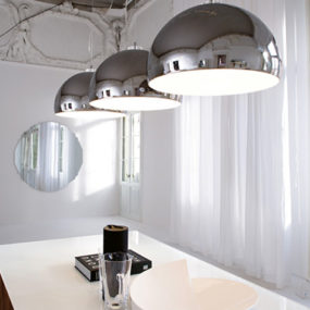 Oversized Pendant Lamp – new metallic finish lamps Calimero by Cattelan Italia
