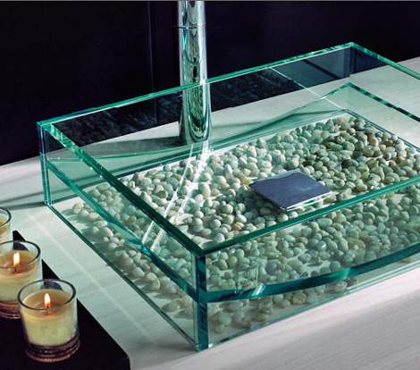 cazana washbasin gondola 2 Glass Washbasin from Cazana Design   Gondola washbasin