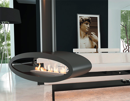 ceiling floor ethanol biofuel fireplace decoflame ellipse 2 Ceiling / Floor Ethanol Biofuel Fireplace by Decoflame – Ellipse