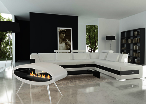 ceiling floor ethanol biofuel fireplace decoflame ellipse 3 Ceiling / Floor Ethanol Biofuel Fireplace by Decoflame – Ellipse