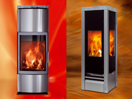cera design modern fireplaces Modern Fireplace Designs from Cera Design   new Domino fireplace & more