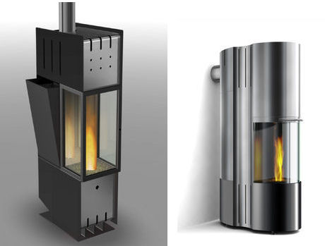 cera design p1 pellet burning fireplaces Design Fireplace from Cera Design   new P1 fireplaces controlled by mobile phone!