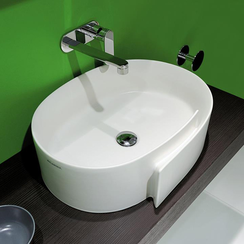 ceramic countertop wash basin flaminia roll 1 Ceramic Countertop Washbasin by Flaminia   Roll