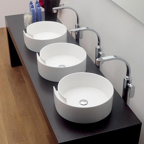 ceramic countertop wash basin flaminia roll 2 Ceramic Countertop Washbasin by Flaminia   Roll