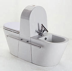 Ceramica Eos wc/bidet Tandem – the space saver