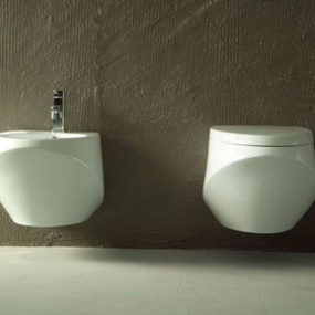 Hanging Toilet & Bidet from Ceramica Esedra – The Basic Collection