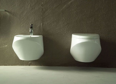 ceramica esedra basic hanging bidet toilet Hanging Toilet & Bidet from Ceramica Esedra   The Basic Collection