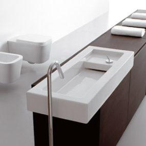 Innovative Italian bathroom design – Space Stone bathroom line from Ceramica Globo – the Open Space concept