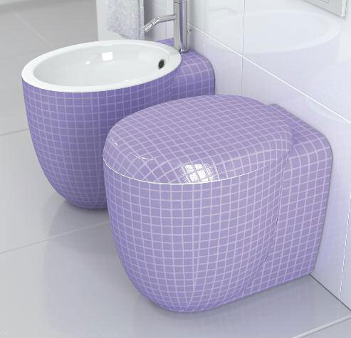 ceramicastile mosaiko bath 4 Decorative Toilets and Bidets by Stile – Mosaiko