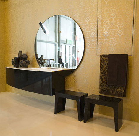 Cerasa Maori bath vanity in ebony finish