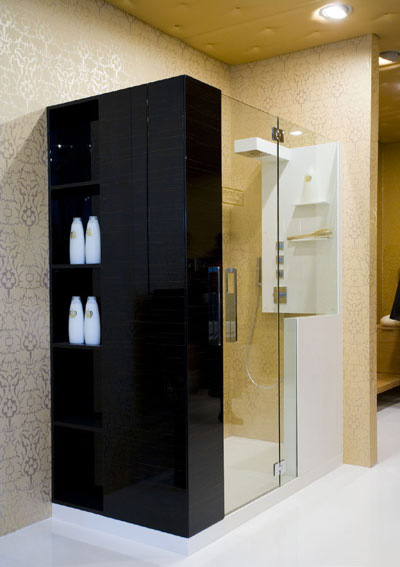 Cerasa shower enclosure in Black
