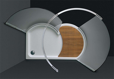 cesana walk in shower eclisse Walk In Shower by Cesana   Eclisse curved shower enclosures with walk in area!