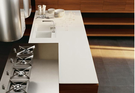 cesar yara kitchen island Minimalist Kitchen from Cesar – new Yara Kitchen lets wood take center stage
