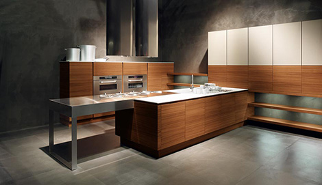 cesar yara kitchen teak door Minimalist Kitchen from Cesar – new Yara Kitchen lets wood take center stage
