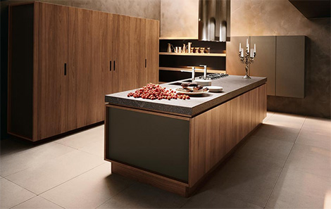 Cesar Yara Kitchen in walnut finish
