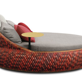 Charming Loveseat for the Garden: Dala by Dedon