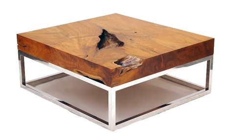 modern wood coffee table Natural Wood Coffee Tables   rustic table collection from Chista modern wood coffee table