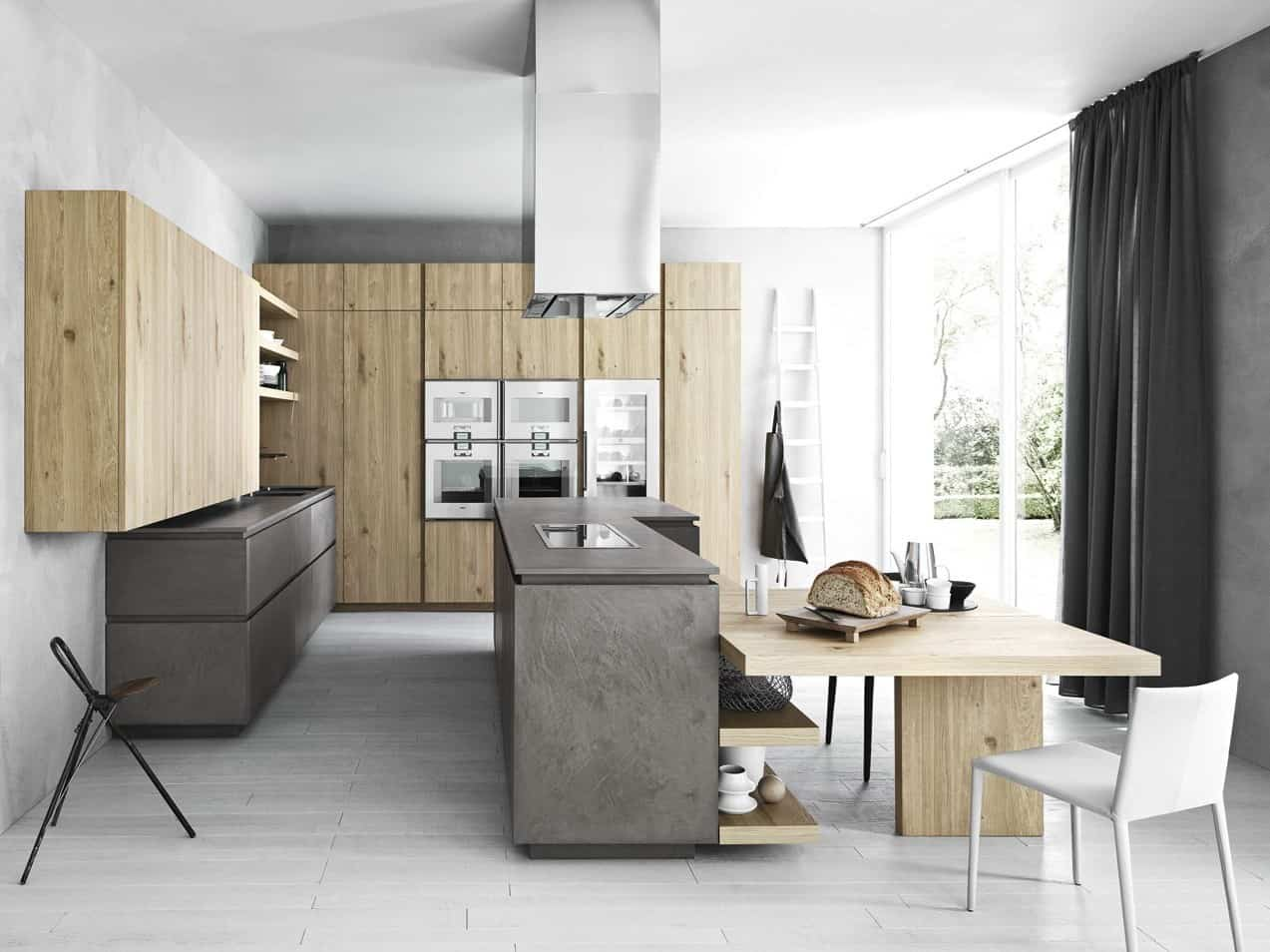 Cesar Kitchens Cloe Mimialist Knotted Oak Kitchen From Cesar