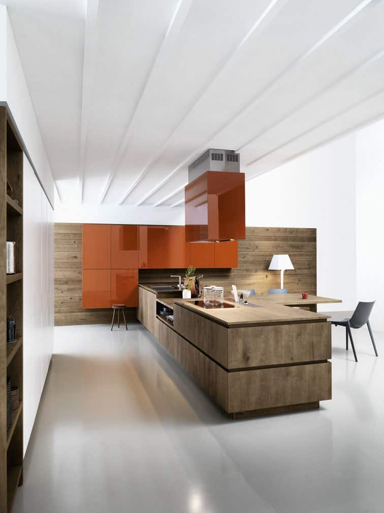 View In Gallery Chloe Mimialist Knotted Oak Kitchen From Cesar 8.