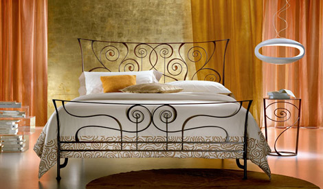 ciacci bed brigtte 1 Wrought Iron Bed from Ciacci   the Brigitte bed