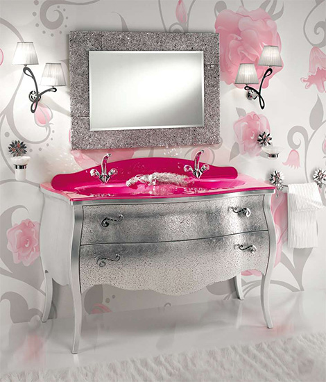 cinderella bathroom design pink etrusca Dream Bathroom Designs by Etrusca